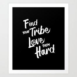 Find Your Tribe - BDSM Triskelion Art Print