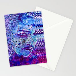 Lustful glance (blue) Stationery Cards