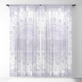 Boho Pastel Purple Mandala Sheer Curtain