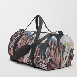 Metallic Coral Duffle Bag