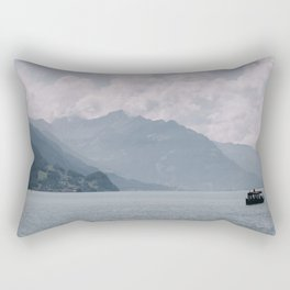 Photo of a boat Lake Brienz/Brienzersee, Berner Oberland, Suisse   Colorful travel photography   Rectangular Pillow