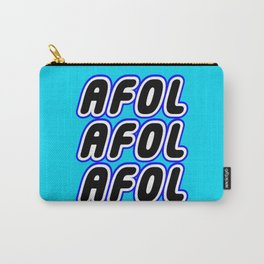 AFOL AFOL AFOL in Brick Font Logo Design [Alternate Colors] by Chillee Wilson Carry-All Pouch