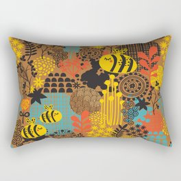 The bee. Rectangular Pillow