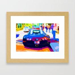 Bugatti Veyron On Rodeo  Framed Art Print
