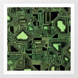 Circuit Board Art Print