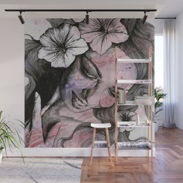 In The Year Of Our Lord (smiling flower lady portrait) Wall Mural