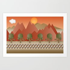 Mountain Railway Art Print