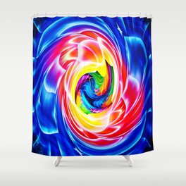 Abstract perfektion 86 Shower Curtain