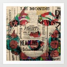 Mrs. Monroe Hollywood POP ART CELEBRITY MOVIE STAR ART PAINTING Art Print