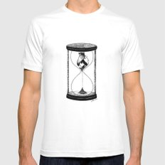 Our Time MEDIUM Mens Fitted Tee White