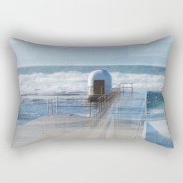 Merewether pool pumphouse, from memory Rectangular Pillow