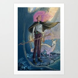 Eltanin and Errai Art Print