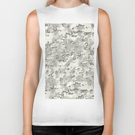 Ivory White Popular Multi Camo Pattern Biker Tank