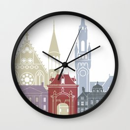 The Hague skyline poster Wall Clock