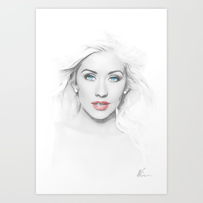 Christina Aguilera - Pop Art Kunstdrucke