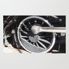 Locomotive 2355 Steam Engine Wheel 1912 Rug