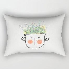 Boiling Frustration Rectangular Pillow