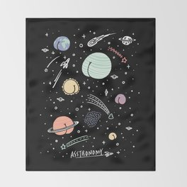 Asstronomy Throw Blanket