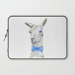 Llama with a Bow Tie Watercolor Laptop Sleeve