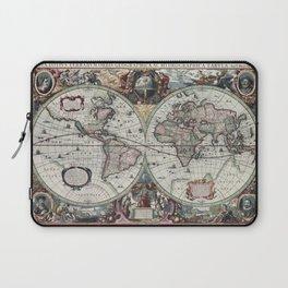 1630 Nova Totius Terrarum Orbis Tabula Map Laptop Sleeve