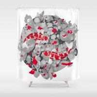 koi fish Shower Curtains featuring Koi Fish by Studio Su