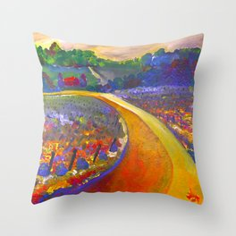 The Road to Chateau Chantal Throw Pillow