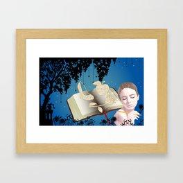Fairytale Book Writer Framed Art Print