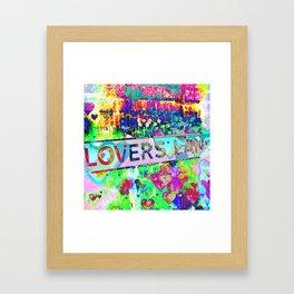 Psychedelic Lovers Lane  Framed Art Print