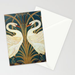 Walter Crane Swan, Rush And Iris Stationery Cards