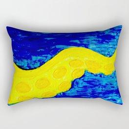 Yellow Tentacle Rectangular Pillow