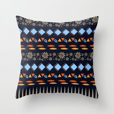 Day of the Dead Tribal Repeat Throw Pillow