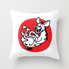 The Laughing Hyena Throw Pillow