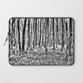 Fall in the Woods-b&w Laptop Sleeve
