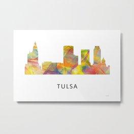 Tulsa, Oklahoma Skyline WB1 Metal Print