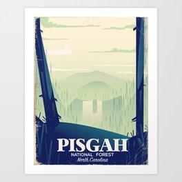 North Carolina Pisgah national park travel poster Art Print