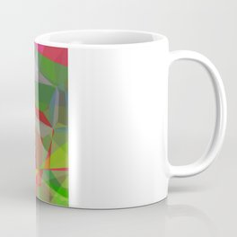 Pink Roses in Anzures 6 Abstract Polygons 3 Coffee Mug