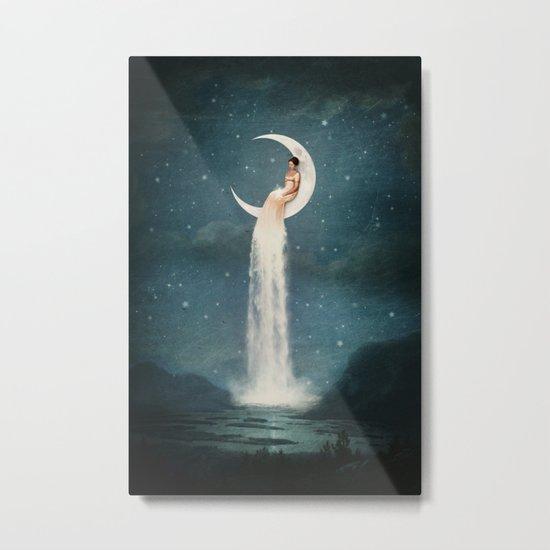 Moon River Lady Metal Print