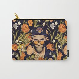 Floral New York fan Carry-All Pouch