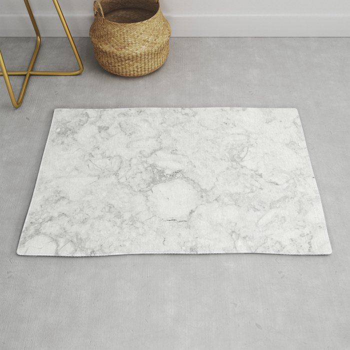Light Grey Marble Texture Rug by