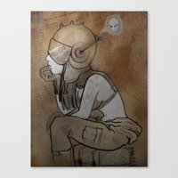 pilot Canvas Prints featuring Pilot by Captain MaryJane