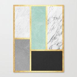 Golden polygon XVI Canvas Print