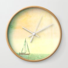 Smell the Sea and Feel the Sky Wall Clock