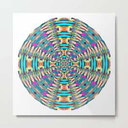 321 - Abstract Colourful Orb design Metal Print
