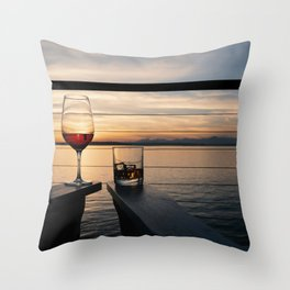 Wine and Whiskey Eve Throw Pillow