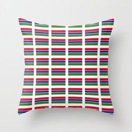 flag of Gambia – Gambian,Gambiano,senegambia,Banjul, serekunda. Throw Pillow