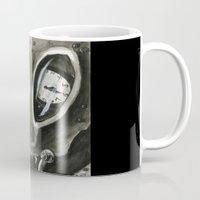 kafka Mugs featuring I'm Late by Kyle McDonald