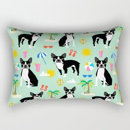 Boston Terrier beach summer vacation dog breed gifts must have boston terriers Rectangular Pillow