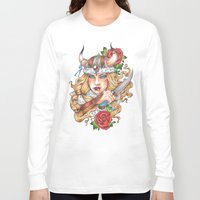 viking Long Sleeve T-shirts featuring Viking by Little Lost Forest