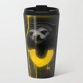 The Majestic Sun Bear Metal Travel Mug