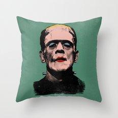 The Fabulous Frankenstein's Monster Throw Pillow